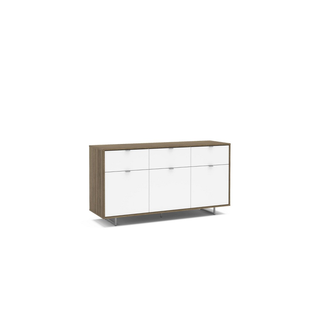 """Image of """"58"""""""" Hamilton Sideboard Walnut and White - Chique"""""""