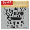 "Stencil1 Haunted House - Stencil 5.75"" x 6"" - image 2 of 3"