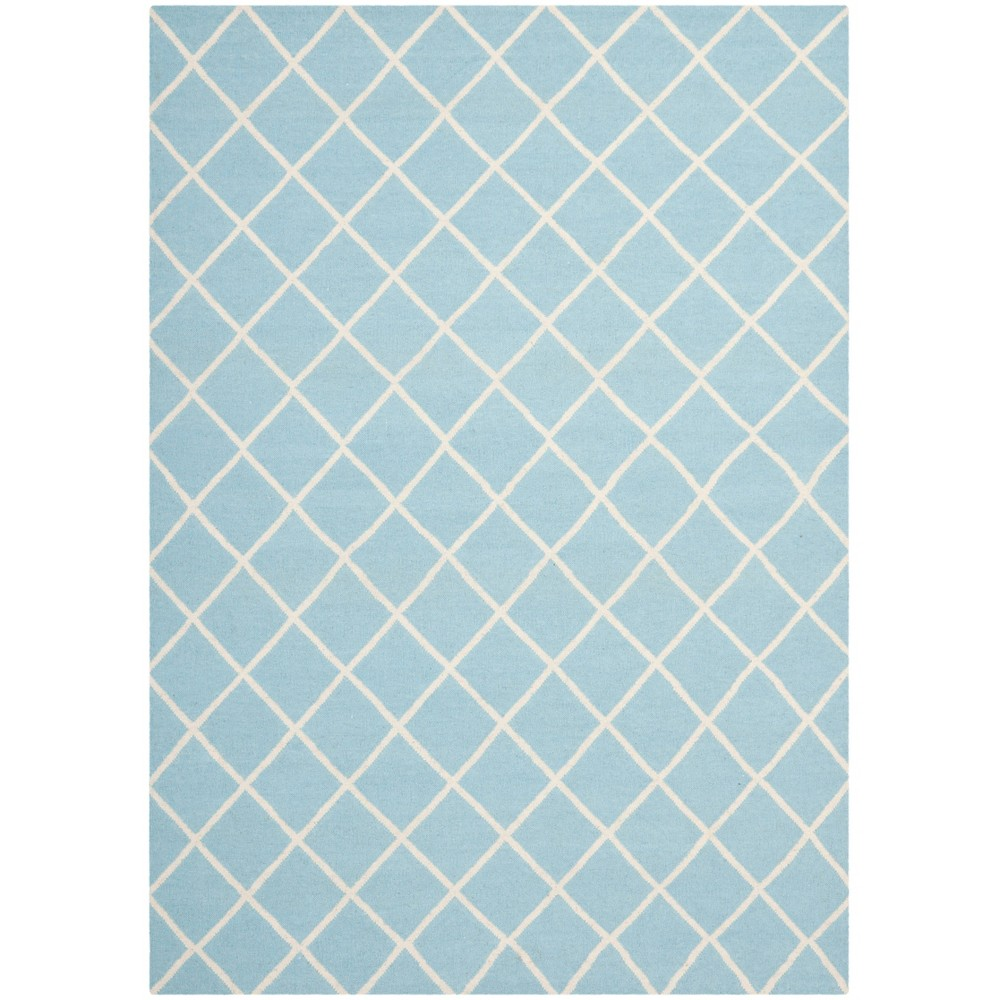 Brant Flatweave Wool Rug - Light Blue/Ivory (6'x9') - Safavieh