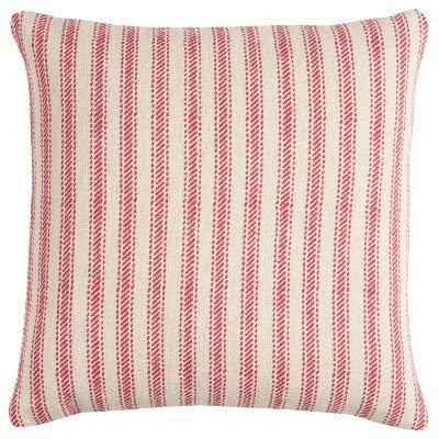 "20""x20"" Oversize Ticking Striped Square Throw Pillow - Rizzy Home"