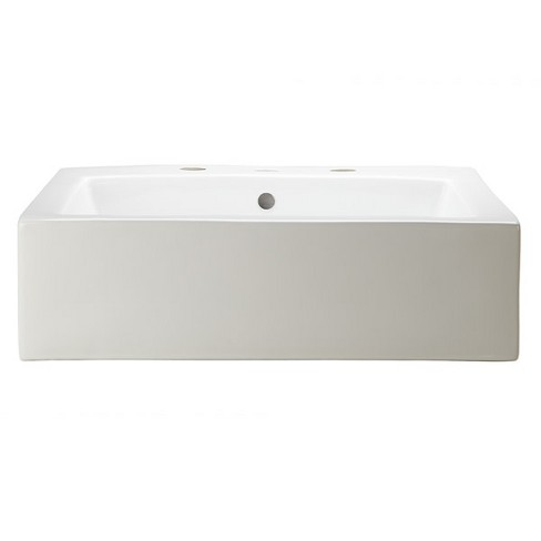 """DecoLav 1417-8 Bluebell 22-3/8"""" Ceramic Above Counter Vessel Sink with Overflow - image 1 of 4"""