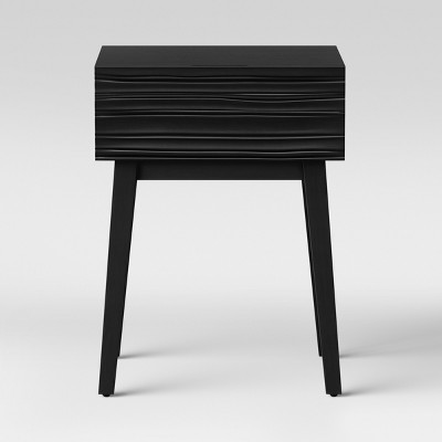Palmetto Cut and Groove Side Table Black - Opalhouse™