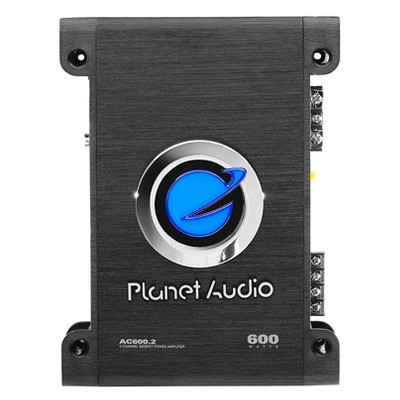 Planet Audio AC600.2 600W Max 2 Channel MOSFET Full Range Class A/B Power Stereo Car Amplifier, Black