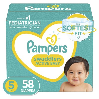 Pampers Swaddlers Disposable Diapers Super Pack - Size 5 (58ct)