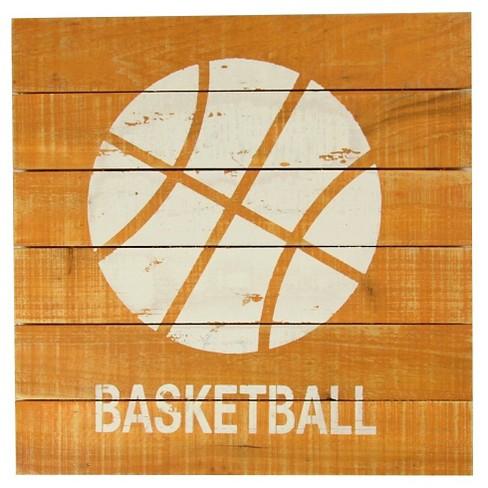 Basketball Plank Art - Pillowfort™ - image 1 of 1