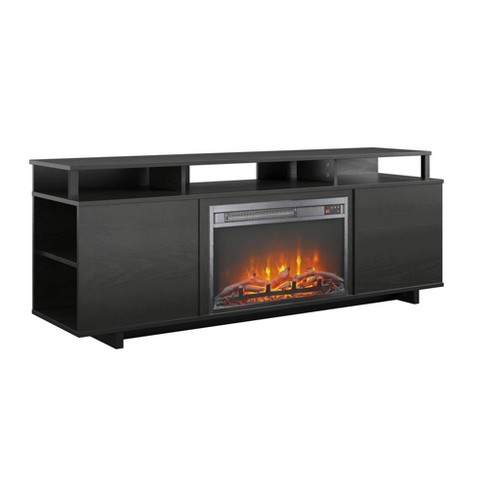"65"" Jude Fireplace TV Stand Black Oak - Room & Joy - image 1 of 4"