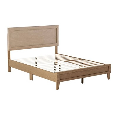King Leah Classic Wood Platform Bed Golden Maple - Brookside Home