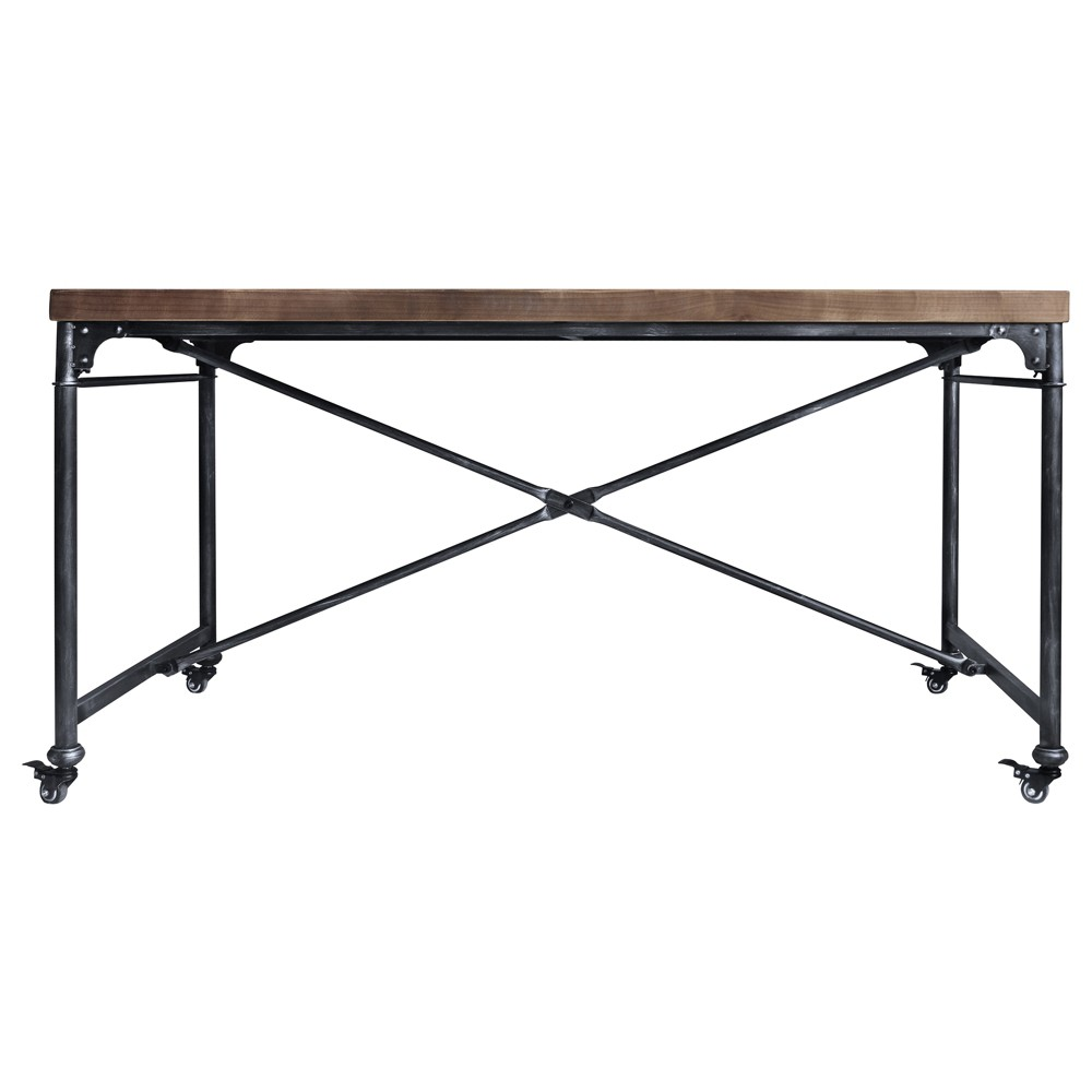Enzo Industrial Dining Table Gray - Armen Living