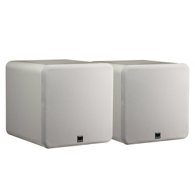 """SVS SB-1000 300 Watt DSP Controlled 12"""" Ultra Compact Sealed Subwoofers - Pair (Piano Gloss White)"""