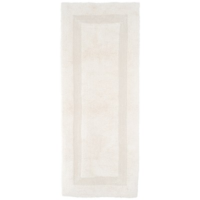 Solid Reversible Long Bath Rug Ivory - Yorkshire Home