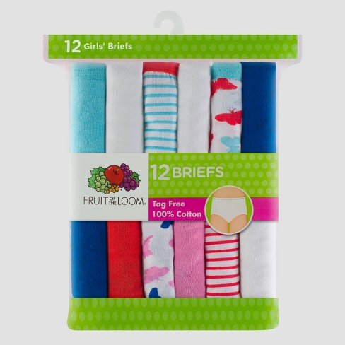 e3680d0e97cf Girls' Fruit Of The Loom 12pk Briefs - Multi-Colored : Target