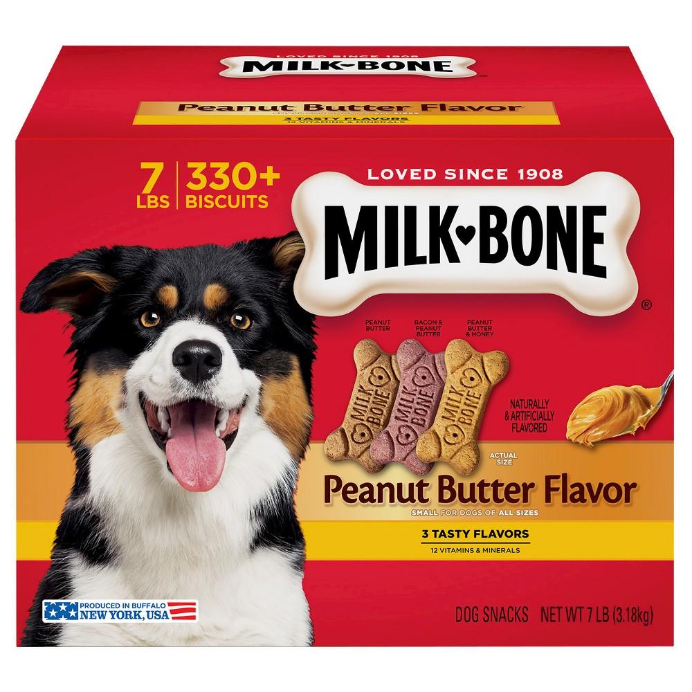 Milk-Bone Peanut Butter Flavor Dog Treats Variety Pack - Small/Medium - 7 lb.