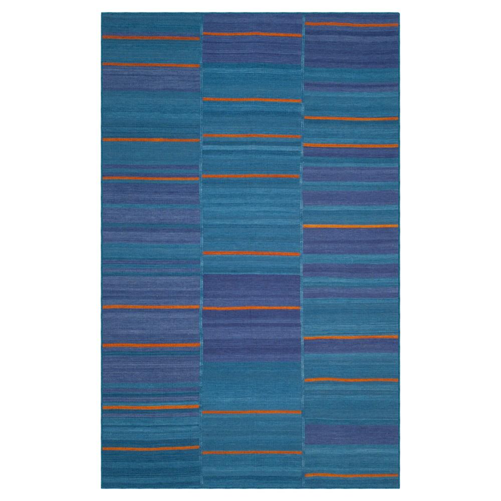 Kilim Rug - Blue- (5'x8') - Safavieh, Blue