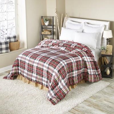 Lakeside Tartan Plaid Comforter - Vintage Plaid Farmhouse Décor