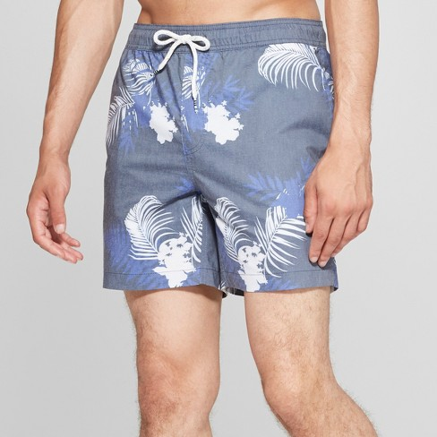 """Trinity Collective Men's 6"""" Canopy Vintage Waist Board Shorts - Dark Blue - image 1 of 3"""