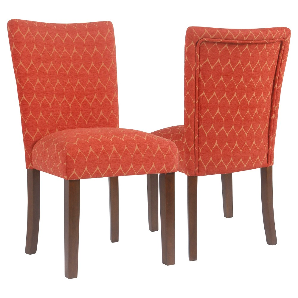 Set of 2 Textured Parsons Chair Red - HomePop was $209.99 now $157.49 (25.0% off)