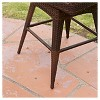 Braxton Wicker Swivel Patio Bar Stool with Cushion - Multi-Brown - Christopher Knight Home - image 3 of 4
