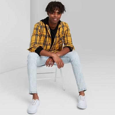 Men's Plaid Long Sleeve Hooded Flannel Button-Down Shirt - Original Use™