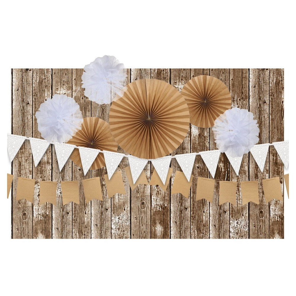 Rustic Backdrop Decoration Kit, Multi-Colored