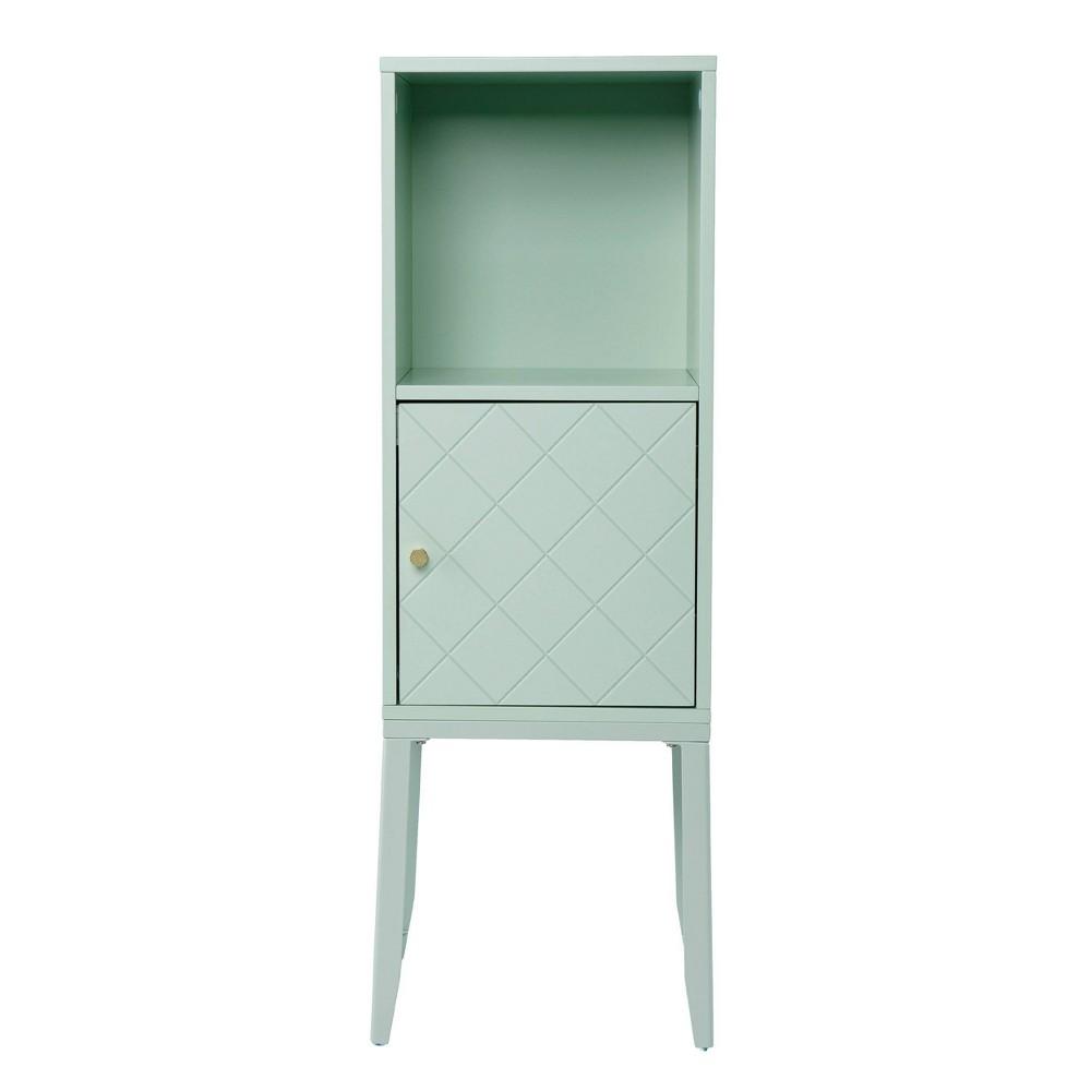 Shamnish Tall Storage Cabinet Mint Aiden Lane