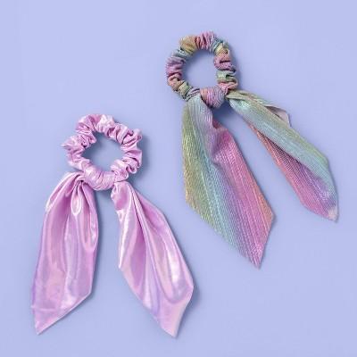 Girls' 2pk Shimmer Twister Hair Ties - More Than Magic™