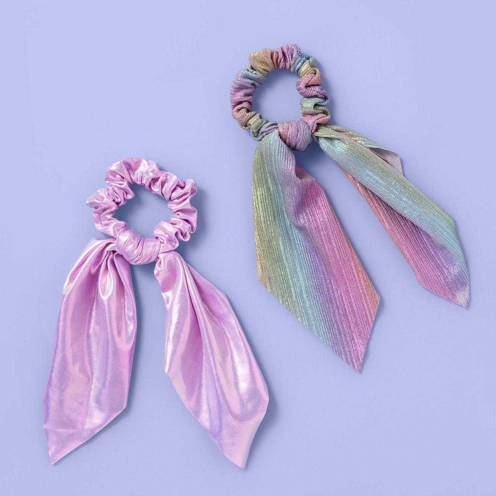 Girls 39 2pk Shimmer Twister Hair Ties More Than Magic 8482