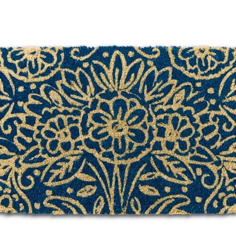 """TAG 1'6"""" x 2'6"""" Floral Coir Doormat Indoor Outdoor Welcome Mat - image 1 of 4"""