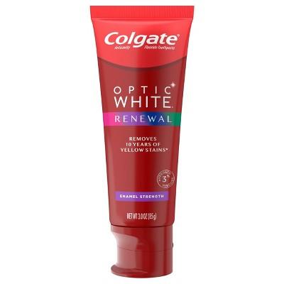 Colgate Optic White Renewal Teeth Whitening Toothpaste - Enamel Strength - 3oz