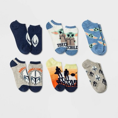 Women's Star Wars Mandalorian 6pk Low Cut Socks - Gray/Navy 4-10