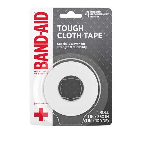 Band-Aid Brand First Aid Medical Tough Cloth Tape - 1in x 10yd - image 1 of 4
