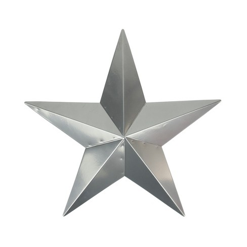 Northlight 3' Silver Rustic Star Indoor/Outdoor Wall Decoration - image 1 of 1
