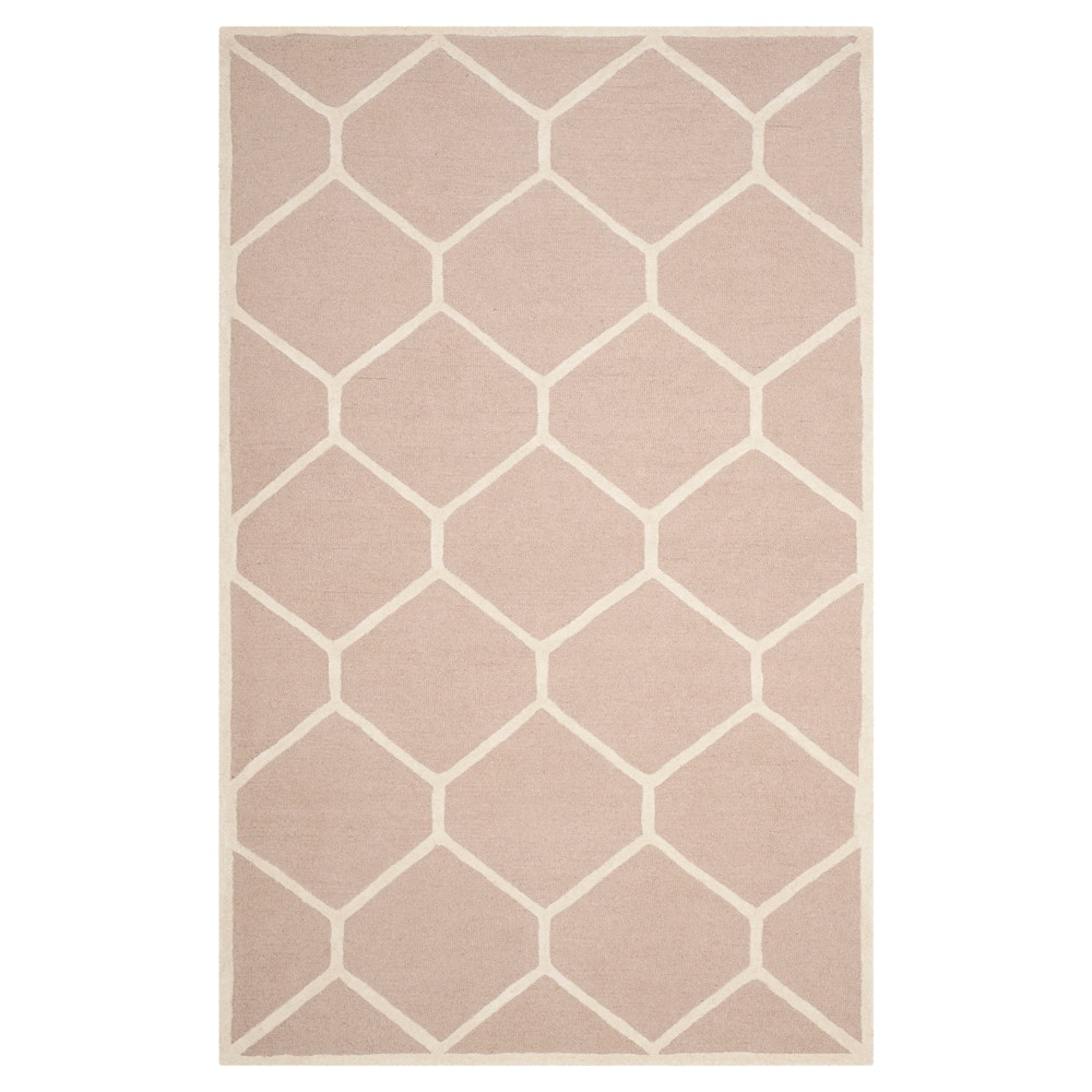 Hunter Texture Wool Rug - Beige / Ivory (6' X 9') - Safavieh, Beige/Ivory
