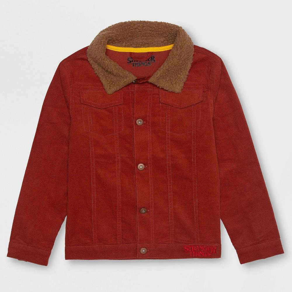 Boys' Stranger Things Luca's Fleece Jacket - Brown L thumbnail