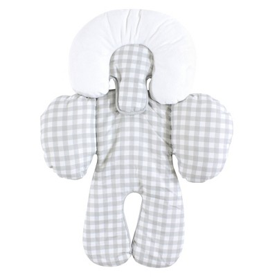 Hudson Baby Infant Unisex Car Seat Body Support Insert, Gray Gingham, One Size