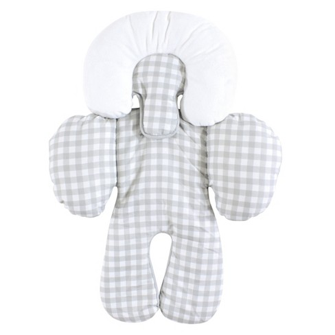 Hudson Baby Infant Unisex Car Seat Body Support Insert, Gray Gingham, One Size - image 1 of 2