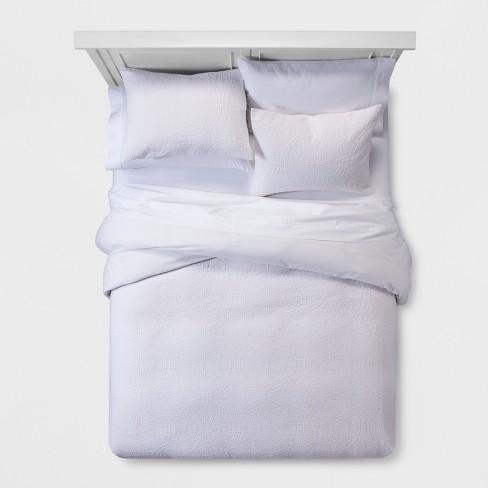 White Matele Duvet Cover Set Full