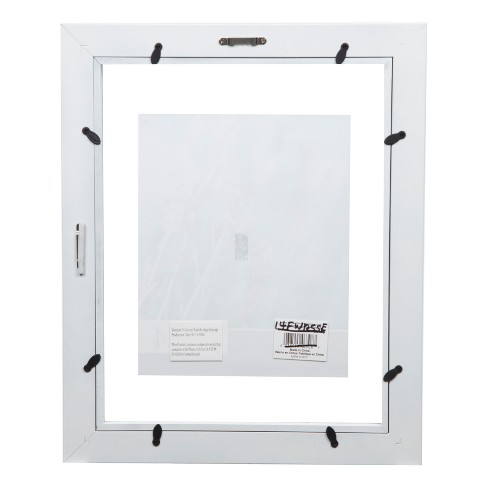 Single Image 11X14 Float To 8X10 Wide White Frame - Gallery ...