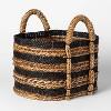 Black And Natural Striped Basket - Threshold™ - image 3 of 3