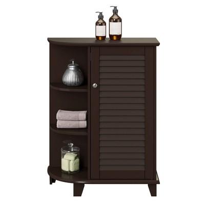 Ellsworth Floor Cabinet with Side Shelves Espresso - RiverRidge Home