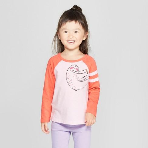 b8a893afe5c Toddler Girls  Long Sleeve Sloth T-Shirt - Cat   Jack™ Light Pink Coral