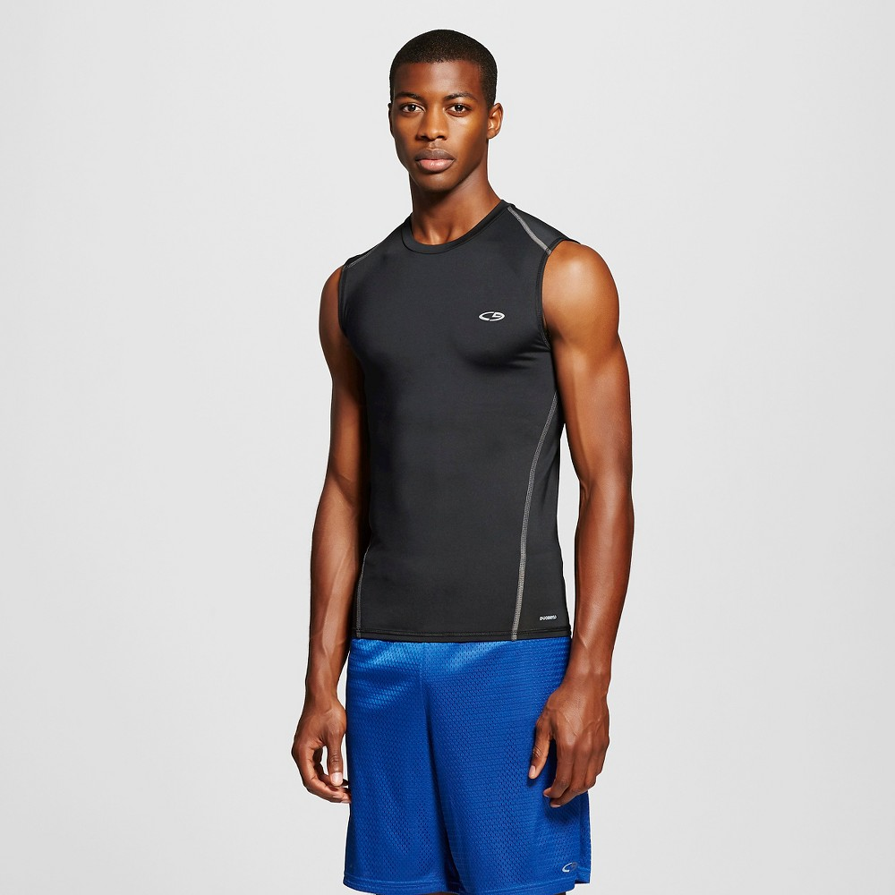 Men's Sleeveless Fitted Compression T-Shirt - C9 Champion Black M