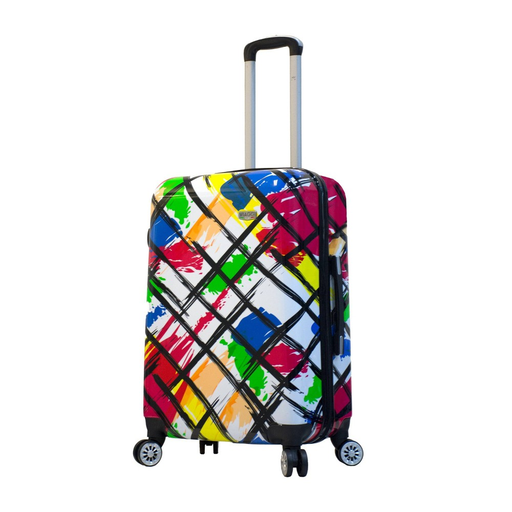 "Image of ""Mia Viaggi ITALY 24"""" Hardside Suitcase - Pop Brush, MultiColored"""