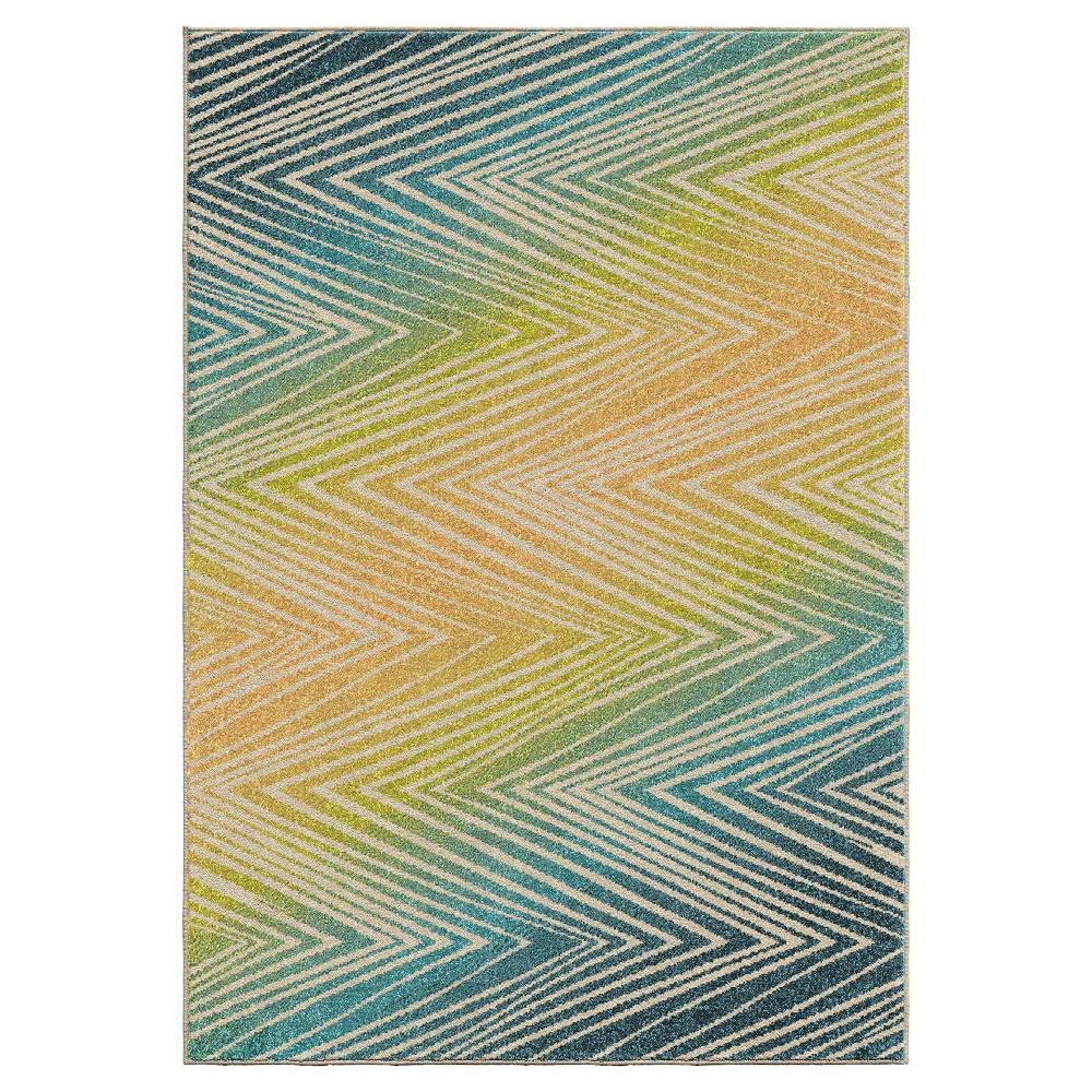 Orian Rugs Ople Chevron Promise Indoor/Outdoor Area Rug, Multicolored