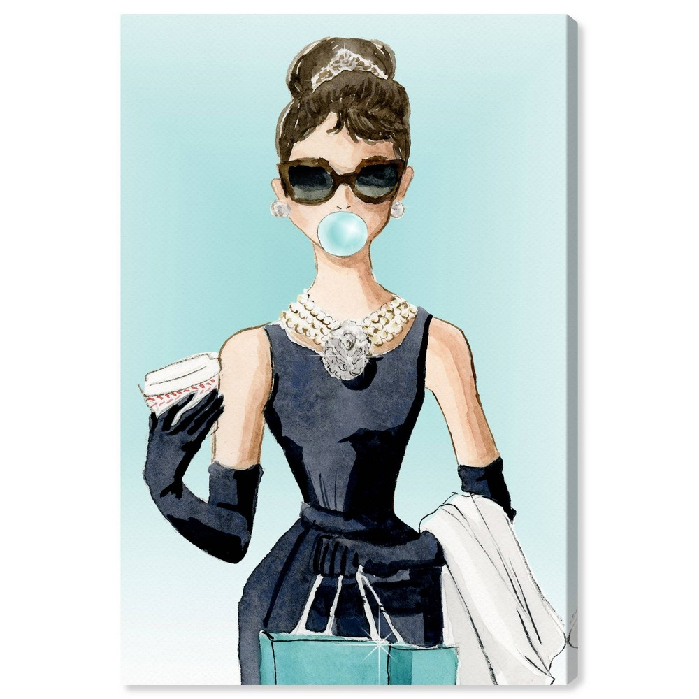 Image of 10'' x 15'' Bubble Gum and Diamonds Unframed Wall Canvas Turquoise - Oliver Gal