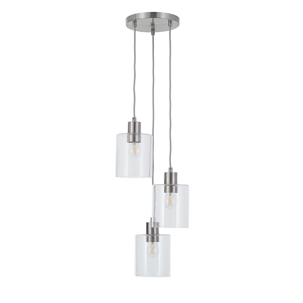 Hudson Industrial 3 Cluster Ceiling Lights (Includes Bulb) Nickel - Threshold was $94.99 now $47.49 (50.0% off)