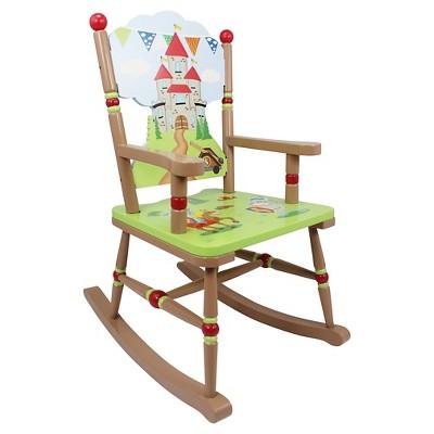 Knights & Dragon Rocking Chair Wood - Teamson