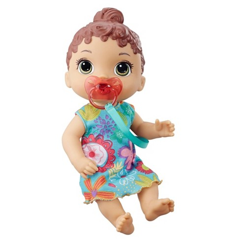 Baby Alive Baby Lil Sounds Interactive Baby Doll Teal Dress Target