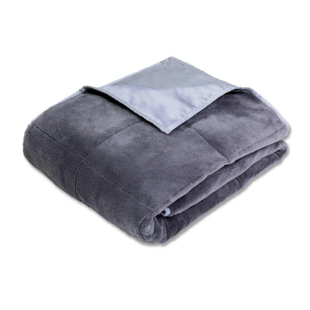 "Image of ""50"""" x 70"""" Cooling 12lb Weighted Bed Blanket Gray - Calming Comfort"""