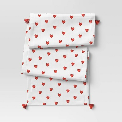 "72"" x 14"" Cotton Hearts Table Runner - Opalhouse™"