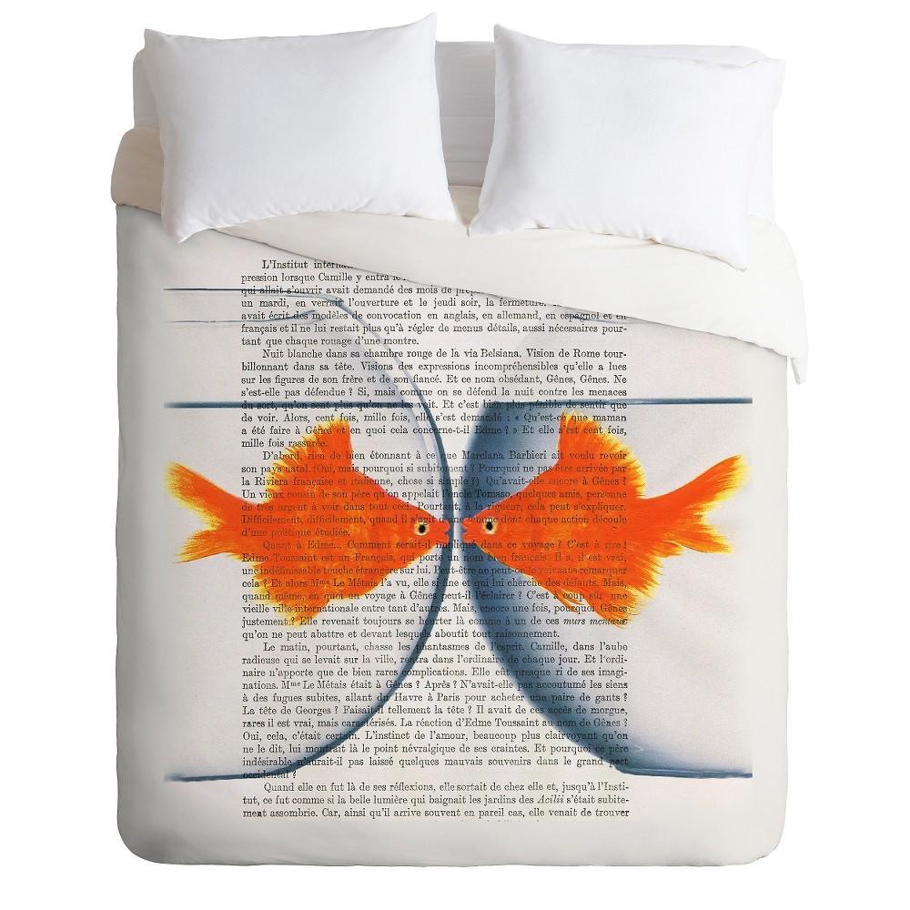 Coco De Paris Goldfish Love Lightweight Duvet Cover Queen Orange (88